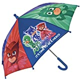 PJ Masks Héroes en Pijamas Paraguas para niño y niña Perletti – Paraguas Los Pijamasques para Lluvia antiviento Manual – 66 cm de diámetro