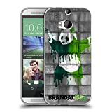 Head Case Designs Offizielle Brandalised Panda Pistolen Banksy Kunst Farbtropfen Soft Gel Hülle für HTC One M8 / M8 Dual SIM