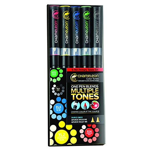 chameleon-primary-tones-set-of-5-pens-by-chameleon