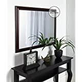 Creative Arts N Frame Big Cherry Color Fiber Wood Framed Wall Mirror || Size - 21 X 28 Inch || Solid Premium Black Water Resistant Synthetic Fiber Wood Made ||