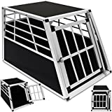 Cage de transport trapézoidale pour chien niche aluminium 1 porte - 69x54x50cm