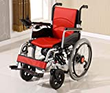 GJX Manual Wheelchair, Aluminum Walker Wheelchair, Intelligent Electric Wheelchair (Color : Red)