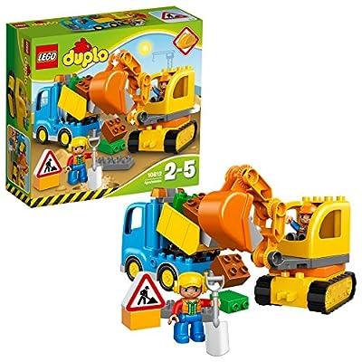 LEGO Duplo - Bagger und Lastwagen, Ideales Geschenk für 2 Jährige