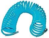 Güde 41401 SB Spiralschlauch 10 M (ausziehbar, mit Schnellkupplung und Stecknippel, Knickschutz, Schlauchmaterial aus PU)
