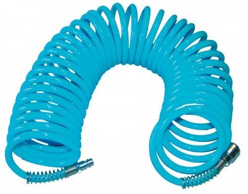 Preisvergleich Produktbild Güde 41401 SB Spiralschlauch 10 M (ausziehbar, mit Schnellkupplung und Stecknippel, Knickschutz, Schlauchmaterial aus PU)