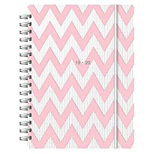 Letts A6 Chevron Week to View 19/20 Academic Diary Pink