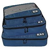 BAGSMART Organisateur de Sac de Rangement de Valise Bagages, Sac Organisateur de Voyage Lot de 3 Bleu