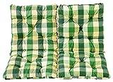 Ambientehome 2er Set Sitzkissen und Rückenkissen Sessel Hanko, kariert grün, ca 50 x 98 x 8 cm, Polsterauflage