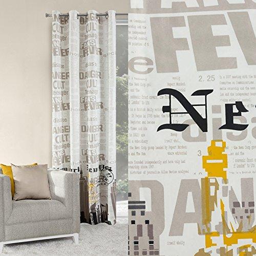 Tenda con occhielli 140x 250cm city ny 2con new york motivo soggiorno modern footless 60%