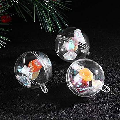 WINOMO-10-x-Weihnachtskugeln-Transparent-Kugel-zum-Befllen-mit-Aufhngese-4CM