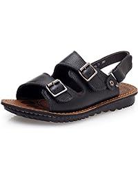 Sommer Sandalen eines Menschen ziehen Farbe skid Freizeitaktivitäten Sandalen Badeschuhe trendsetter Gezeiten ziehen, 43, Schwarz