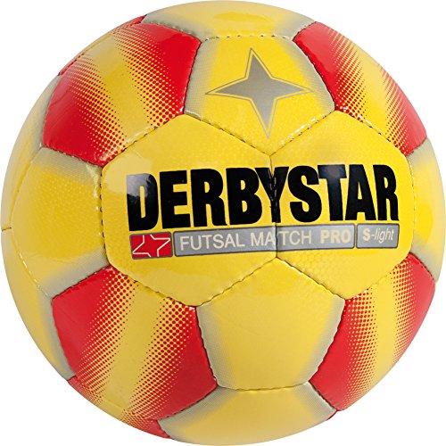 Derbystar Futsal Match Pro S-Light, Ball Größe 3 (290 g), gelb rot, 1089