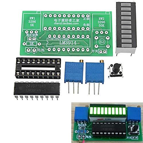 Cornelia Pound DIY Elektro-Kit for 2,4-20 V Batterie LED Power Indicator Kit DIY Batterie Tester Modul