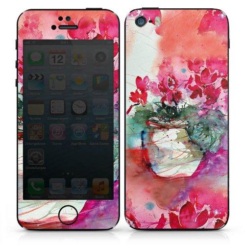 Apple iPhone 4s Case Skin Sticker aus Vinyl-Folie Aufkleber Gemälde Rosen Blumen DesignSkins® glänzend