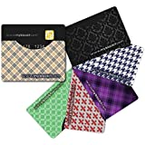 BLOCKIT Credit Debit Card Protector Sleeves - Best for RFID Blocking, Travel Security and Fraud Prevention - Perfect Slim Fit for all Mens and Womens Wallets - Designer Set of 6 - Includes 2016 ID Theft Protection eBook - Recommended by Lifelock