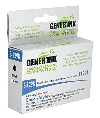 GENERINK T1291/T1001 Cartouche d'encre compatible avec Imprimante Epson B42WD BX305F/BX305FW/BX320FW Noir