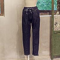 Ms. Jeans Jeans Jeans donna di colore vita solido denim scuro dei jeans dritto , l