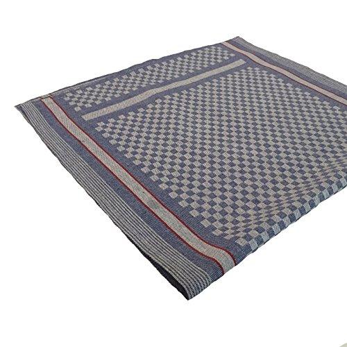 Hans-Textil-Shop Grubenhandtücher 50x100 cm Baumwolle Streifen Karo Handtuch Geschirrtuch Gläsertuch kariert Blau Weiß
