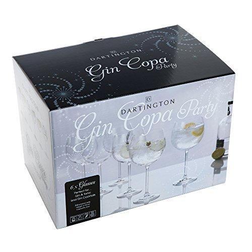 Dartington Crystal Juego de 6copas para «gin tonic», 570ml, en caja