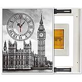 LITING Elettrico Meter Box Pittura Decorativa Impermeabile Antipolvere di Colore Completo Impermeabile Orologio Verticale (Size : Outer50*70CM inner40*60CM)