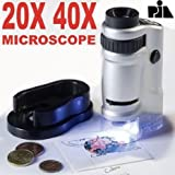 #10: 20X 40X Zoom Microscope Portable Detachable Ultralight Magnifying Glass Zoom Microscope with Two Slides