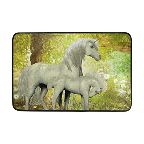 LINGVYTE VintageOil Painting Forest Doormats Floor Mats Shoe Scraper for Home Indoor Entrance Way Front Door 23.6 by 15.7 Inches 40 x 60 cm (Service Forest Hose)