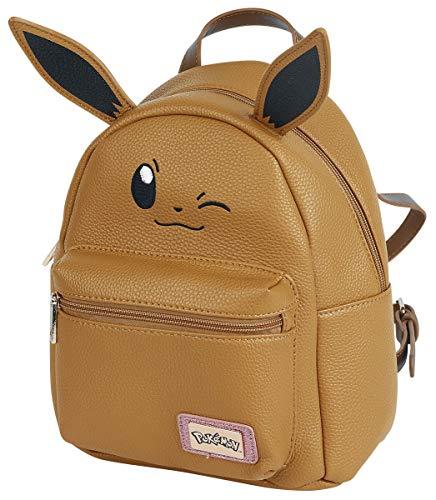 DIFUZED Sac à DOS Pokemon Evoli Premium Kinder-Rucksack, 41 cm, Braun (Marron)