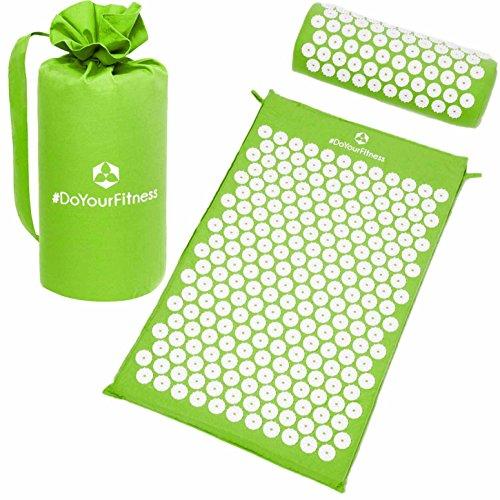 #DoYourFitness Akupressur-Set »Jimuta« / Tasche + Matte + Kissen/Akupressur- und Massagematte zur effektiven Lockerung und Lösung von Verspannungen/grün