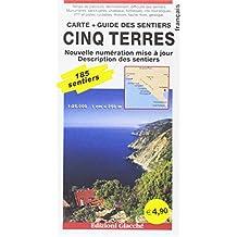 Cinq Terres. Carte + Guide des sentiers. 185 sentiers, echelle 1:25.000.