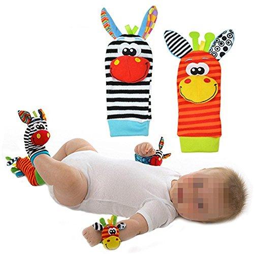 1par de Calcetines de bebé parte Calcetines/sonajero Calcetines, divertida de peluche,...