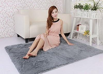 Yontree Anti-skid Living Room Soft Carpets Floor Mat Shaggy Area Rug