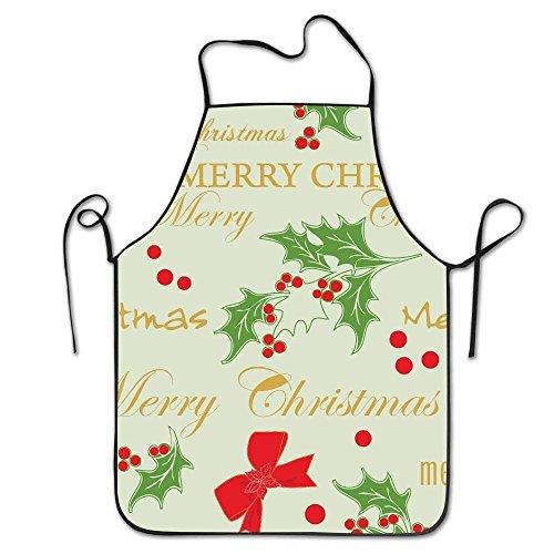dfhdshsd Christmas Santa Claus Waterproof Durable Personalized Apron Cooking Kitchen Apron Bib Apron for Women Men Adults Chef -