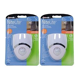 Amertac - Westek 73092CC LED Night Light, Motion Sensor, White/Nickel, - 2 Pack by AmerTac