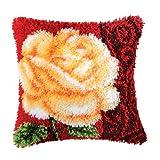 Vervaco PN-0014181 Knüpfkissen 3615 Rose