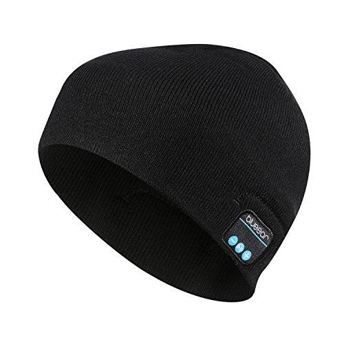 Bluetooth Beanie Mütze BLUEEAR Waschbare Freizeit Bluetooth Baggy Hats Kopfhörer mit akustischem Stereolautsprecher und Freisprecher-Telefonbeantwortung und bis zu 8 Stunden...