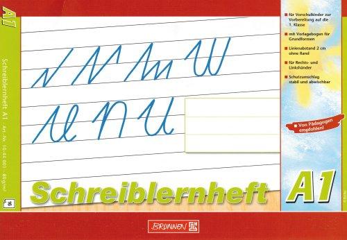 """Lernheft/Schreibheft\""""Brunnen\"""" A1 / Din A4 quer VORSCHULE"""