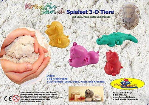 shoppen4kids Kreativsand Spielset 3-D Tiere mit Spiel-und Aufbewahrungsbox, 40x60x16cm