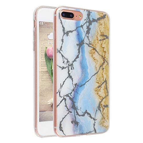 Schutzhülle iPhone 7/8 Plus 5.5 Zoll, iPhone 8 Plus Handyhüllen, iPhone 7 Plus Silikon Hülle mit Marmor, Marble Design, Moon mood® TPU 3D Handyhülle Muster Case Cover für Apple iPhone 7 Plus/iPhone 8  Marmor 12
