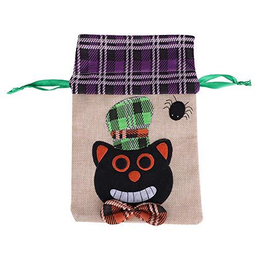 Katze Kostüm Tränen - Halloween Goody Bag, Urlaub Trick Treat Paket für Festival Kostüm Party Zubehör(Schwarze Katze)
