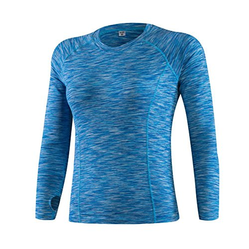BOBORA Camicie donna sport Base Layer manica lunga compressione termica Yoga atletico