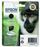 Epson Original T0891 Affe, wisch- und wasserfeste Tinte (Singlepack) schwarz