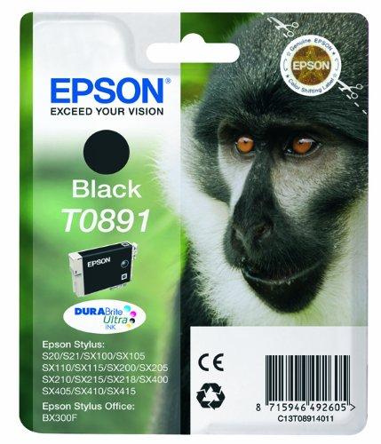 Epson T0891 Cartouche d'encre d'origine 1 x noir 180 pages
