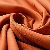www.aktivstoffe.de 1165 - PES Micro Teflon (Terracotta) wasserabweisend, schmutzabweisend - Multifunktionsstoff - 100% Polyester Microfaser - Stoff - Meterware