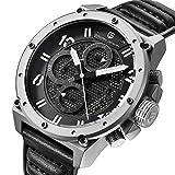 Pagani Design Herren Chronograph Sportuhr Leder Quarz Uhr Luxus Marke Wasserdicht Militär