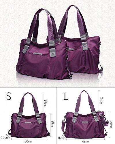 Yokeeyoo , Damen Rucksackhandtasche violett violett Größe S Blau