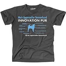 Siviwonder Unisex T-Shirt INNOVATION APPENZELLER SENNENHUNDE TEILE LISTE Hunde lustig fun