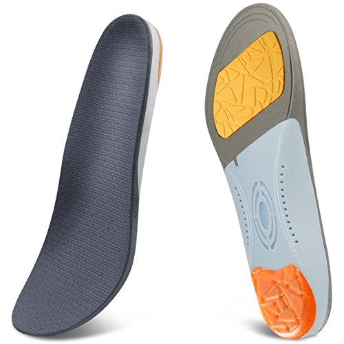 GIVBRO Orthopädische Einlagen - Einlegesohlen zur Ruhigstellung und Stoßdämpfung Komfortabel Gel Schuheinlagen für Herren
