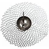 Chilewich Dahlia Round Floral Placemat, 14.25 by 15.25-Inch, Silver by Chilewich
