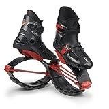 KangooJumps Power - Botas Infantiles de Salto para Fitness Titanium/Red Talla:36-39