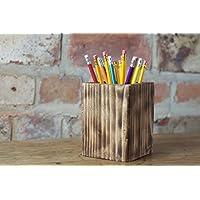 Wooden pen or pencil pot